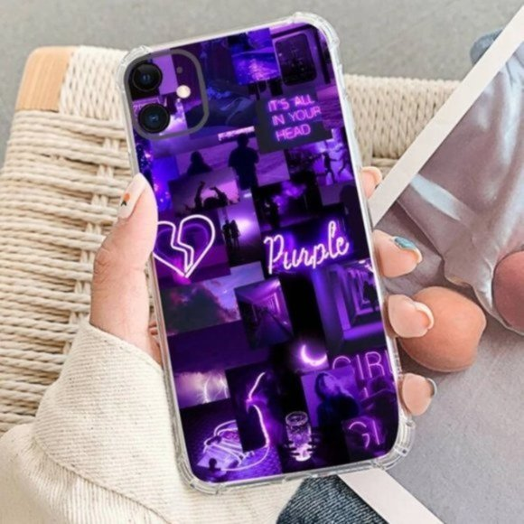 SHEIN Aesthetic Purple Collage iPhone 11 Pro Case